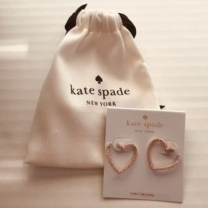 NWT Kate Spade Yours Truly Rose Gold Earrings